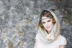 Snood and pearl headband