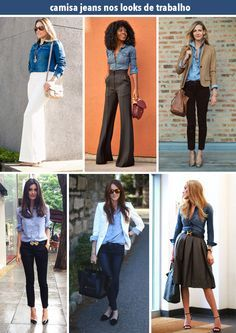 Estilo Meu - Consultoria de Imagem / camisa jeans / jeans shirt / stylish outfits / looks / get inspired / personal stylist / fashion / fashion inspiration / stylish women / how to wear / styling tips / camisa jeans / como usar / dicas de moda / jeans at work