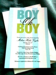@Amy Lyons Robinson Martin, notice this adorable baby shower invite, it has STRIPES, I love it :)