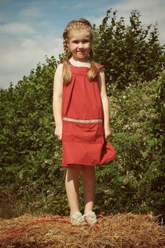 wwww.cordelicious.org Girls dress in red with white stars. AVAILABLE IN MATCHING FABRIC
