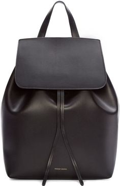 Mansur Gavriel Black Leather Backpack Leather Backpack Purse f56711a397caf