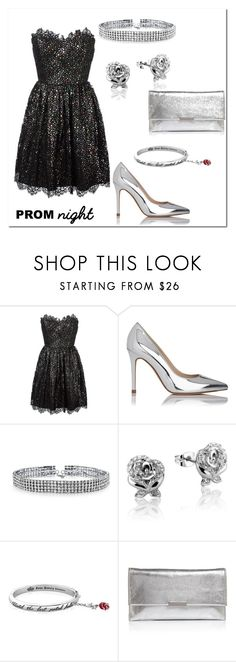 """""""Prom Night"""" by claudialogan ❤ liked on Polyvore featuring Yves Saint Laurent, L.K.Bennett, Bling Jewelry, Disney and Loeffler Randall"""