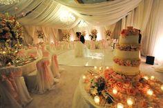 Pretty Covered Tent Wedding Reception wedding night lights tent inspiration ideas reception weddings wedding cake