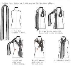 lessons in tying a scarf