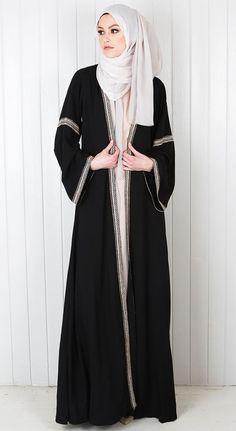 So beautifully modest gaun muslim fashion, Abaya fashion hijab and abaya - Hijab Islamic Fashion, Muslim Fashion, Modest Fashion, Fashion Outfits, Style Fashion, Fashion Design, Abaya Designs, Casual Hijab Outfit, Hijab Dress