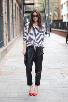 8 Ways To Wear Leather This Spring | theglitterguide.com