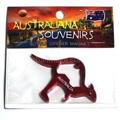 Kangaroo, Fridge-Magnet, Bottle-Opener   MAKA-RED