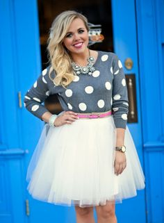 Polka Dots and Tulle Skirt