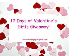 12 Days of Valentine's Gifts Giveaway! | http://www.cravingmycoupons.com/12-days-of-valentines-gifts-giveaway/