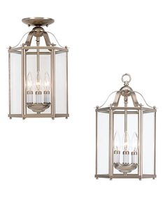 This Brushed Nickel Semi-Flush Pendant Light is perfect! #zulilyfinds
