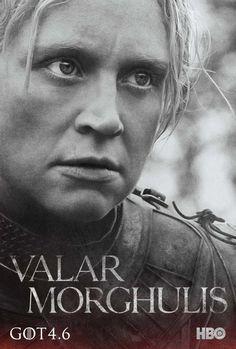 Game of Thrones Season 4 Poster - Brienne of Tarth (Gwendoline Christie), #GoTSeason4 #GameOfThrones