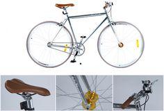Klasycznie czy nowocześnie? Dziś zdecydowanie nowocześnie! Rower w srebrnym kolorze? Czemu nie! Pełna elegancja i design dla mężczyzn lubiących dobry styl... 👨 Rower męski ostre koło podmiejski Flying Fixie Eco