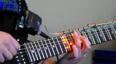 Light-Up Guitar Frets learning kit (Kickstarter project) Looks Cool, Light Up, Piano, Best Gifts, Gadgets, Guitar, Internet, Cool Stuff, Learning
