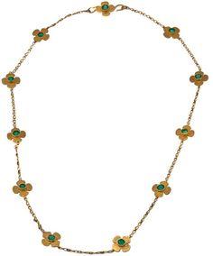 Marie-hélène De Taillac Clover Necklace in Gold