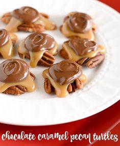 Chocolate Caramel Pecan Turtles