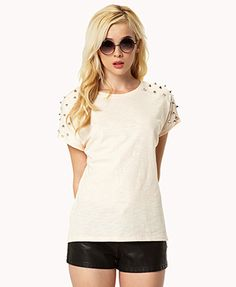 Spiked Tee | FOREVER21 - 2048198492