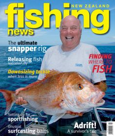 Barry from Chaos Charters makes it to the cover of Fishing News! Sport Fishing, Diving, New Zealand, Island, News, Cover, Scuba Diving, Blanket, Islands
