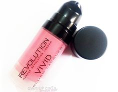 Review and Swatches on Makeup Revolution Vivid Blush Lacquer in Rush.