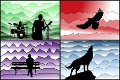 Gradations and silhouette with Gimp