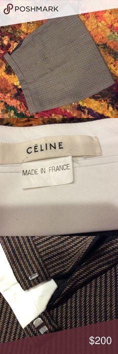 Celine France made mini skirt Tweed mini. Worn once. In perfect condition. Skirts Mini