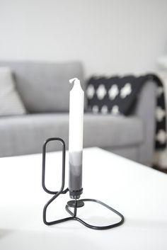 Via Myke Minutter | Black Grey White | Dip Dye Candle | Hay Lup