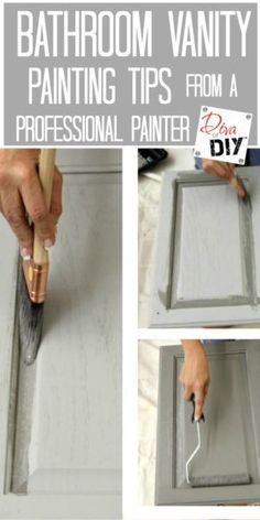 Looking for bathroom ideas but a full bathroom remodel not in the budget? Why not an easy painting project for a bathroom makeover. Paint it with pro tips! remodel on a budget Easy Painting Project: Update Your Bathroom Vanity Bathroom Renovations, Home Remodeling, Bathroom Makeovers On A Budget, Easy Bathroom Updates, Bathroom Decor Ideas On A Budget, Bathroom Showrooms, Basement Renovations, Kitchen Remodeling, Bedroom Ideas