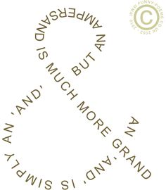 An example of a shape poem, in which the words of the poem are formed into an ampersand