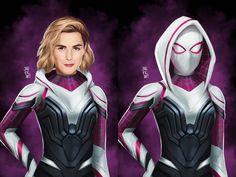 Dc Comics Girls, Marvel Comics Art, Marvel Girls, Marvel Heroes, Marvel Universe, Marvel Spider Gwen, Spy Girl, Marvel Animation, Spider Girl