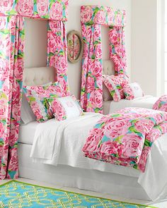 Lilly Pulitzer#174; First Impressions Bedroom......not your style I know .....but I love this Louisa ;)