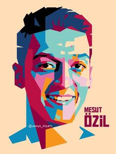 Ozil in WPAP (wedha's pop art portrait) For order, please contact me Email : wst097@gmail.com Pin :7D35E7D Wa : 083839566484