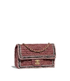 Chanel - Métiers d'Art Paris-Hamburg 2017/18 | Pink & purple tweed & braid mini flap bag with gold-tone metal