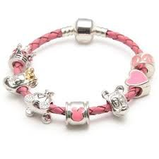 Most sold-out Bracelets For Children Kids Charm Bracelet, Kids Bracelets, Bracelet Set, Beaded Bracelets, Pandora Style Charms, Birthday Gifts For Girls, Braided Leather, Pink Leather, Girl Gifts