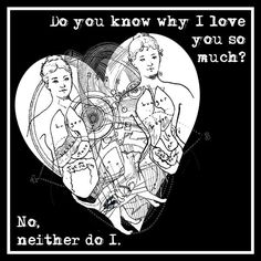 Rude Anti Valentines Day Card - Do you know why I love you so much? Why I Love You, Dont Love, My Love, Hate, Naughty Valentines, Anti Valentines Day, Steampunk Heart, Pink Envelopes, Heart Cards