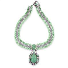 A multi gem-set necklace, attributed to Dorrie Nossiter,