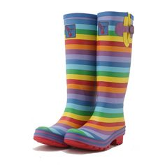 Evercreatures Rainbow Wellies - Rainbow Patterned Wellingtons http://www.daisy-roots.co.uk/index.php?route=product/product_id=68
