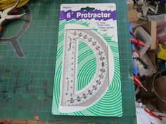 "6"" Clear Plastic Protractor"