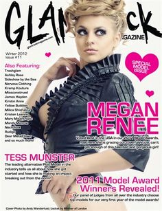 Glam Rock Mag | Winter 2012 Issue 11 - p54 Glam Rock, Mind Blown, Love Her, Glamour, Winter, Heart Tattoos, Magazine Covers, Fasion, Awesome