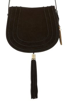 Vince Camuto 'Izzi' Tassel Leather & Suede Crossbody Bag