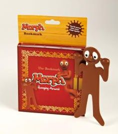 Morph Bookmark - peers over the edge of your book!! / Cancer Research UK Retro, cute and awesome!