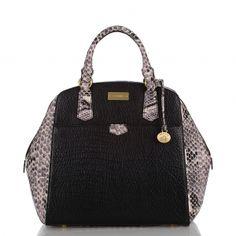 THE black satchel for the lemon lime blazer style look. Brahmin Handbags, Black Satchel, Best Handbags, How To Make Handbags, Blazer Fashion, Purses And Bags, Tote Bag, My Style, Lemon Lime