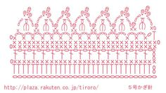 模様編みのショール・縁編み編み図 | ちろろの編みあみぶろぐ - 楽天ブログ