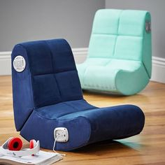Suede Mini Rocker Speaker Chair
