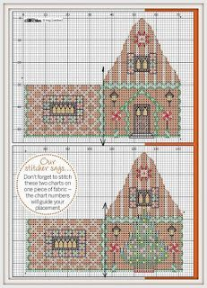 Inspiração: + Gingerbread House of Cross Stitch COLEÇÃO