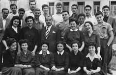 A photo of 'Athena' high school students. Athens, Greece, twentieth century. Courtesy Peloponnesian Folklore.