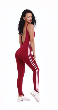 3bb0de71ae95 New Yoga Set Sexy U-neck Backless Women Closed-Fitting Jumpsuit Gym Running  Sport Wear yoga bodysuit