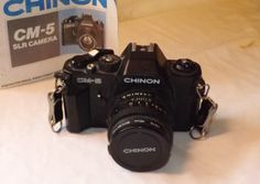Bargain Basement price on vintage Chinon 35mm SLR camera Model CM5 with by NostalgicByNature, $22.00
