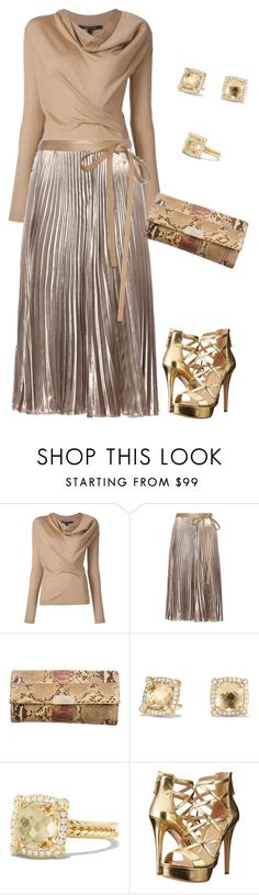 """""""Untitled #3088"""" by elia72 ❤ liked on Polyvore featuring Valentino, Jimmy Choo, David Yurman and GUESS"""