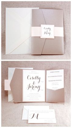 Wedding Invitation Set Sophisticated elegance ivory