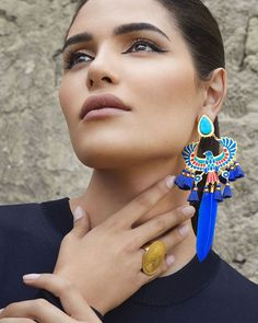 Introducing our latest collection titled 'Eye See You', inspired by the Egyptian culture. Drop Earrings, Jewelry, Fashion, Models, Egypt, Feathers, Turquoise, Handmade, Creativity