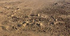 Umm al-Ajarib archaeological site in southern Iraq - looted for all it was worth :(